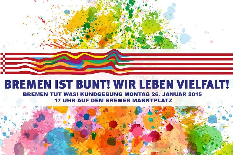 Banner 'Bremen ist bunt!'