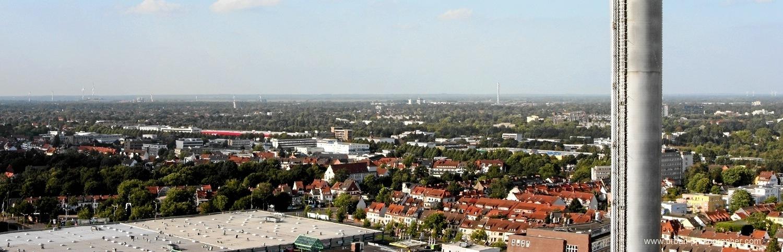 Kraftwerk Bremen-Hastedt mit Block 14 (rotweisser Schornstein) 3