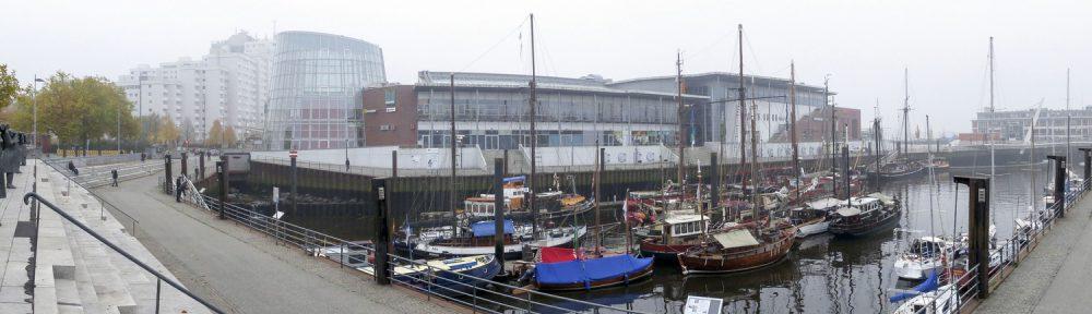Museumshafen Bremen-Vegesack im Oktobernebel 2015