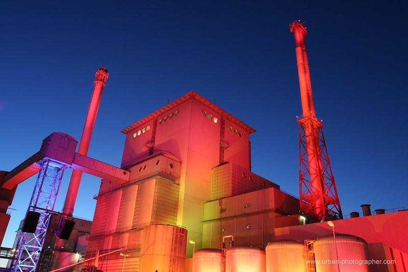 Kraftwerk Hastedt illuminiert