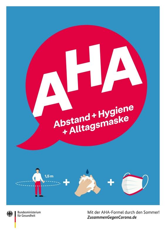 Plakat AHA-Formel